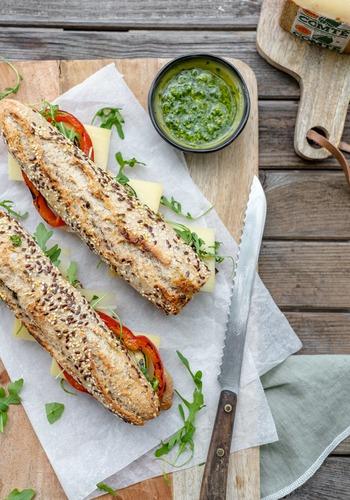 Sandwich au Comté et légumes grillés